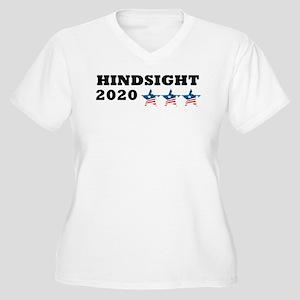 Anti-Trump Hindsi Women's Plus Size V-Neck T-Shirt