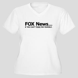 Anti FOX News Women's Plus Size V-Neck T-Shirt