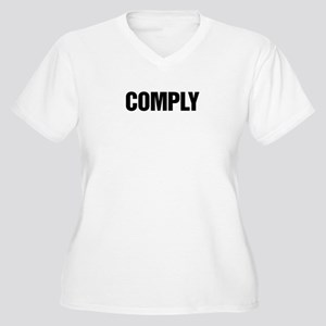 COMPLY Women's Plus Size V-Neck T-Shirt