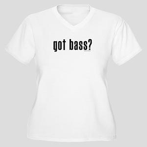 got bass? Women's Plus Size V-Neck T-Shirt