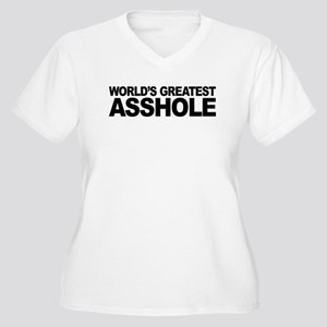 World's Greatest Asshole Women's Plus Size V-Neck