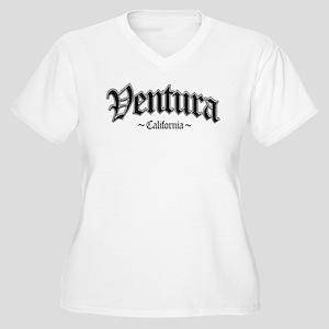 Ventura California Women's Plus Size V-Neck T-Shir
