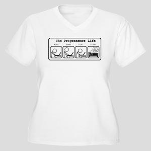 Unique The programmers life Plus Size T-Shirt