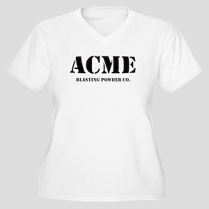 ACME Women's Plus Size V-Neck T-Shirt