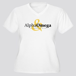 Alpha and Omega Women's Plus Size V-Neck T-Shirt