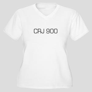 CRJ 900 Women's Plus Size V-Neck T-Shirt