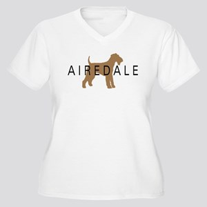 Airedale Women's Plus Size V-Neck T-Shirt