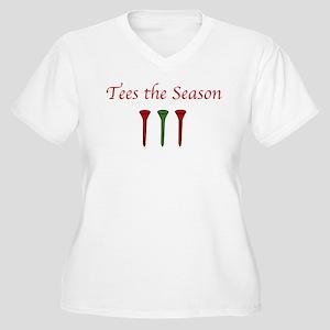 Tees the Season - Women's Plus Size V-Neck T-Shirt