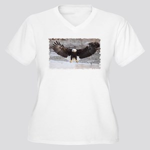 Eagles Landing Women's Plus Size V-Neck T-Shirt