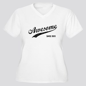 Personalize Awesome Since Plus Size T-Shirt