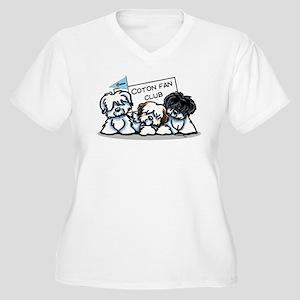 I Love Cotons Women's Plus Size V-Neck T-Shirt