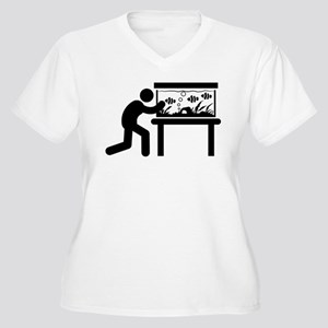 Fish Lover Women's Plus Size V-Neck T-Shirt
