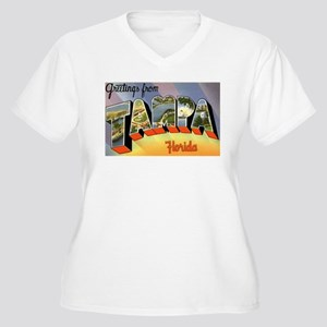 Tampa Florida Greetings Women's Plus Size V-Neck T
