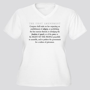 First-Amendment-(white-shirt) Plus Size T-Shirt