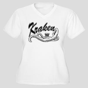 Kraken @ eShirtLabs.Com Women's Plus Size V-Neck T