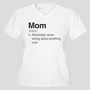 Mom Never Wrong Women's Plus Size V-Neck T-Shirt