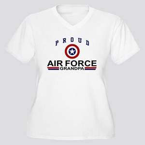 Proud Air Force Grandma Women's Plus Size V-Neck T
