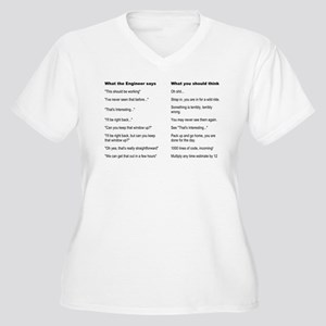 Engineer Translation Guide Women's Plus Size V-Nec