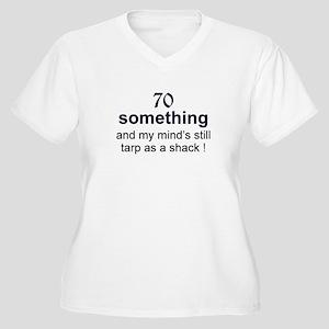 70 Something Women's Plus Size V-Neck T-Shirt
