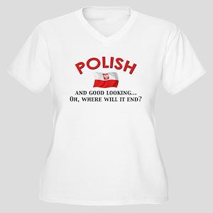 Good Lkg Polish 2 Women's Plus Size V-Neck T-Shirt