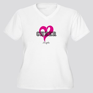 Love Cheer Heart Plus Size T-Shirt