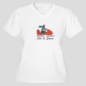 Let It Snow Plus Size T-Shirt