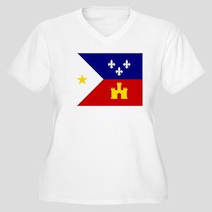 Flag of Acadiana Louisiana Plus Size T-Shirt