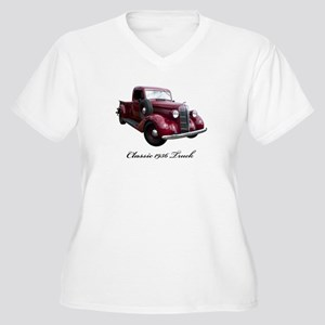 1936 Old Pickup Truck Women's Plus Size V-Neck T-S