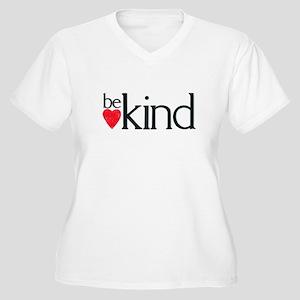 Be kind Women's Plus Size V-Neck T-Shirt