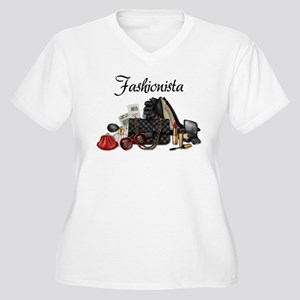 Fashionista Women's Plus Size V-Neck T-Shirt