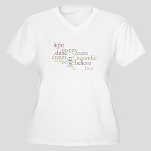 Kindness Matters Women's Plus Size V-Neck T-Shirt