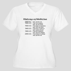 History of Medicine Women's Plus Size V-Neck T-Shi