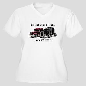 Trucker - it's my life Women's Plus Size V-Neck T-