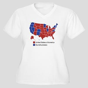 Map of Dumbfuckistan Plus Size T-Shirt