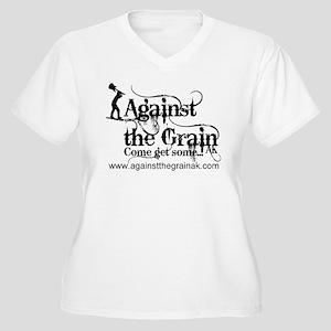Against the Grain AK's Women's Plus Size V-Neck T-