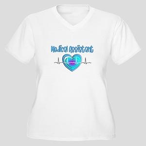 Medical Assistant Women's Plus Size V-Neck T-Shirt