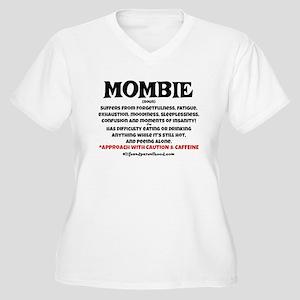 MOMBIE - CAFFEINE Women's Plus Size V-Neck T-Shirt