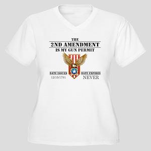 My Permit Women's Plus Size V-Neck T-Shirt