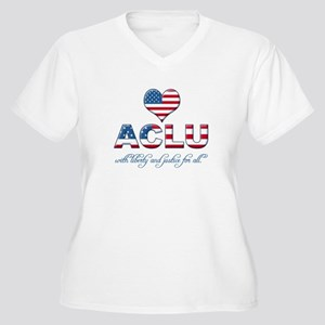 I <3 ACLU Women's Plus Size V-Neck T-Shirt