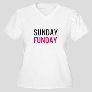 Sunday Funday (black / pink) Plus Size T-Shirt
