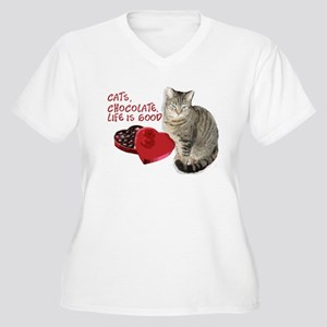 Cats and chocolate Plus Size T-Shirt