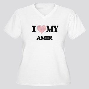 I Love my Amir (Heart Made from Plus Size T-Shirt