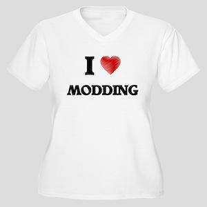 I Love Modding Plus Size T-Shirt