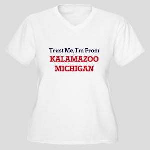 Trust Me, I'm from Kalamazoo Mic Plus Size T-Shirt