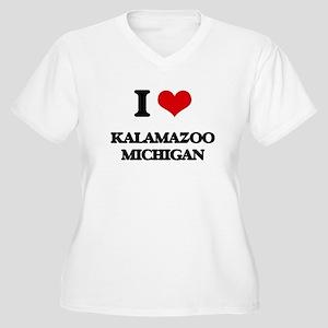 I love Kalamazoo Michigan Plus Size T-Shirt