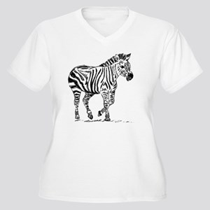 Zebra Women's Plus Size V-Neck T-Shirt