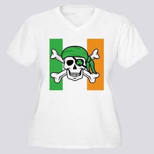 Irish Pirate Women's Plus Size V-Neck T-Shirt