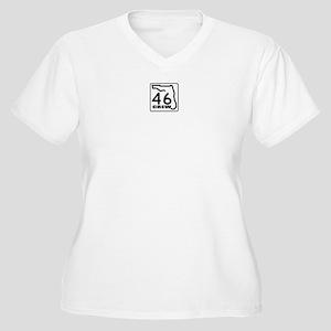 46 Crew Women's Plus Size V-Neck T-Shirt