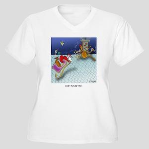 Christmas Cartoon Women's Plus Size V-Neck T-Shirt