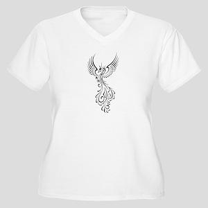 black-phoenix-bird Women's Plus Size V-Neck T-